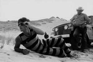 Man Modeling Tank Suit