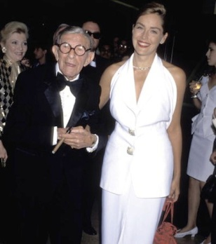 George Burns and Sharon Stone (Photo by Jim Smeal/WireImage)